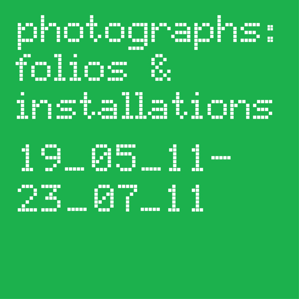Photographs: Folios & Installations cover