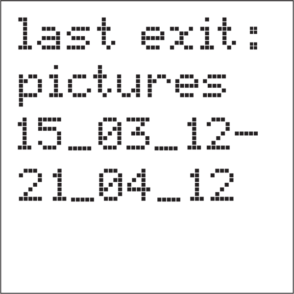 Last Exit: Pictures cover